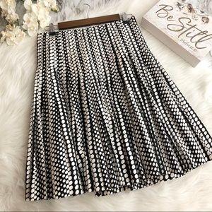 Club Monaco Skirt Fit & Flare Polka Dot Print, 2
